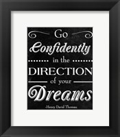 Framed Direction of your Dreams