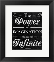 Framed Power of Imagination
