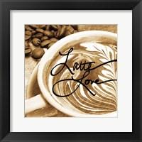 Framed Cafe Swirls I