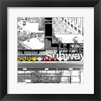 Framed Subway Square