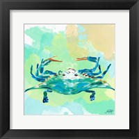 Framed Watercolor Sea Creatures I