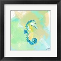 Framed Watercolor Sea Creatures III