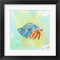 Framed Watercolor Sea Creatures II