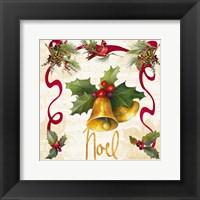 Framed Christmas Poinsettia Ribbon III