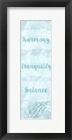 Framed Spa Harmony Panel I