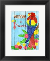 Framed Parrot Party II