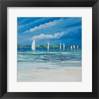 Framed Sail Away Beach II