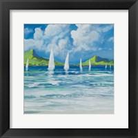 Framed Sail Away Beach I