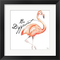 Framed Be Different Flamingo I