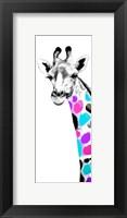 Framed Multicolored Giraffe II
