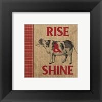 Framed Rise & Shine Farm Fresh II