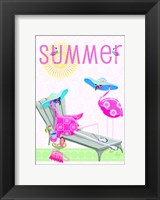 Framed Flamingo Summer I