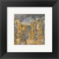 Framed Gold City Eclipse Square II
