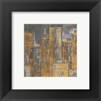 Framed Gold City Eclipse Square I