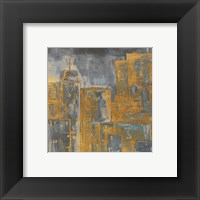 Framed Gold City Eclipse Square III
