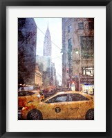 Framed Rainy Madison Avenue