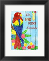 Framed Parrot Party I