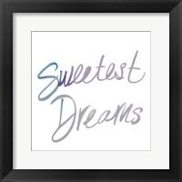 Framed Sweetest Dreams
