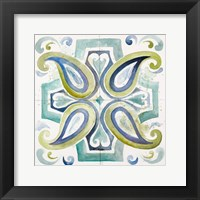 Framed Contemporary Tiles with Paisley