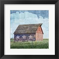 Framed American Barn
