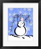 Framed Silly Snowmen I