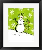 Framed Silly Snowmen IV