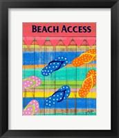 Framed Colorful Beach Access