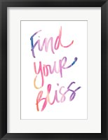 Framed Find Your Bliss