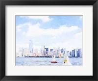Framed Watercolor NYC Skyline II