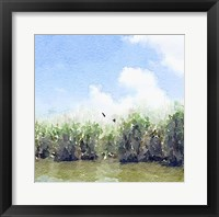 Framed Watercolor Black Hammock Lake