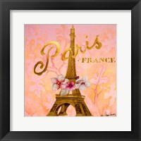 Framed Gold Paris Eiffel