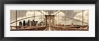 Framed Brooklyn Bridge (sepia)