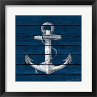Framed Anchor on Blue Wood