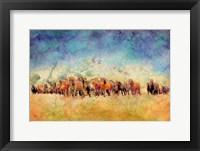 Framed Horse Herd