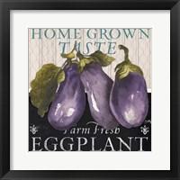 Framed Vegetable Farm Fresh IV