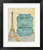 Framed Take Only Memories