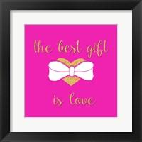 Framed Best Gift is Love