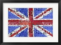 Framed Uk Flag License Plate