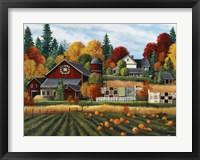 Framed Autumn on the Farm