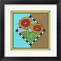 Framed Sunflowers 1