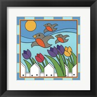 Framed Tulips 3 With Melody The Songbird