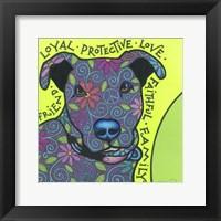 Framed Pit Bull I