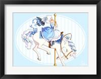 Framed Carousel Blue