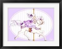 Framed Carousel Purple