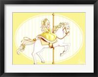Framed Carousel Yellow