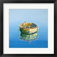 Framed 1 Boat Blue