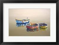 Framed 3 Boats Yellow