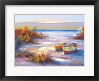 Framed Boats On The Beach