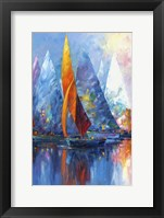 Framed Sail Boats