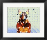 Framed Bull Terrier Brown Oxide LX